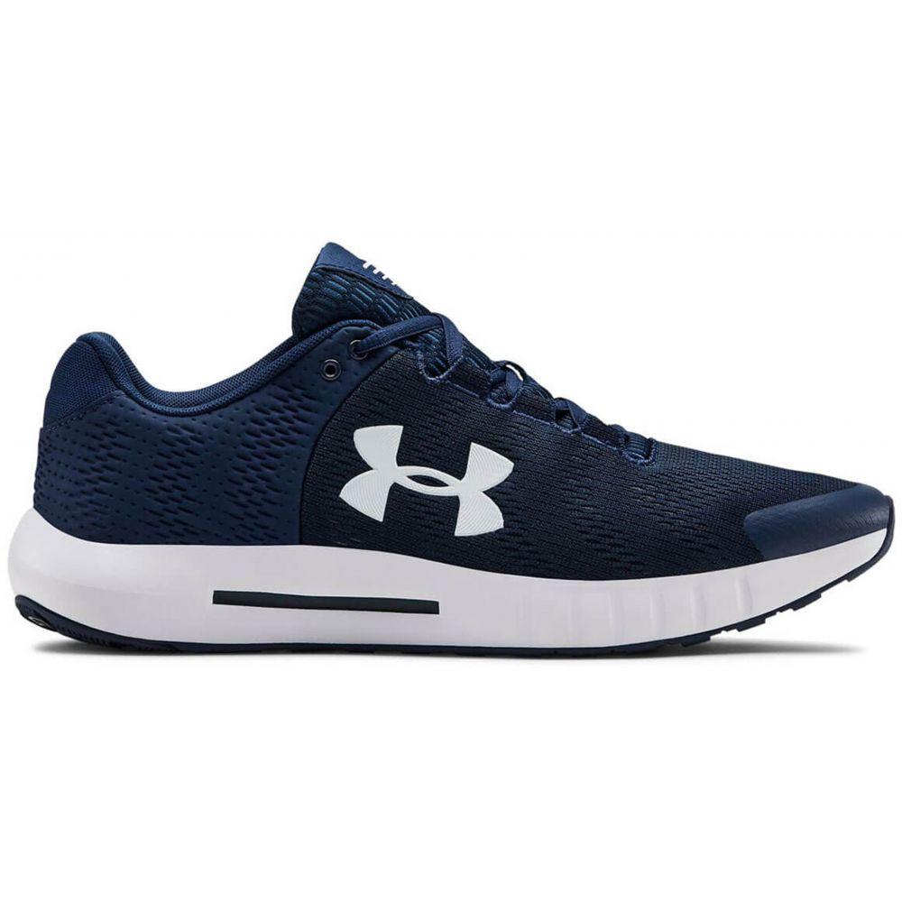 アンダーアーマー Under Armour メンズ ランニング・ウォーキング シューズ・靴【Micro G Pursuit BP Running Shoes】Academy/White/White