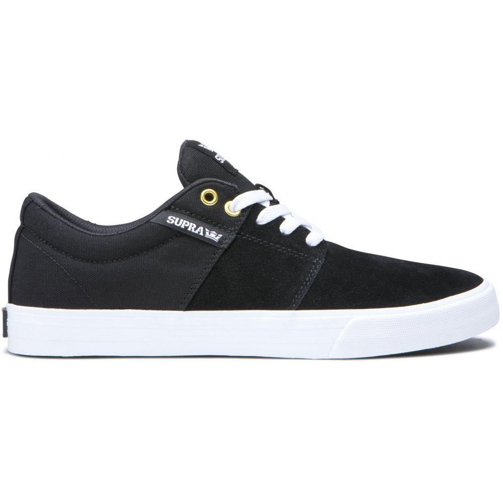 スープラ Supra メンズ スケートボード シューズ・靴【Stacks Vulc II Skate Shoes】Black/Black/White
