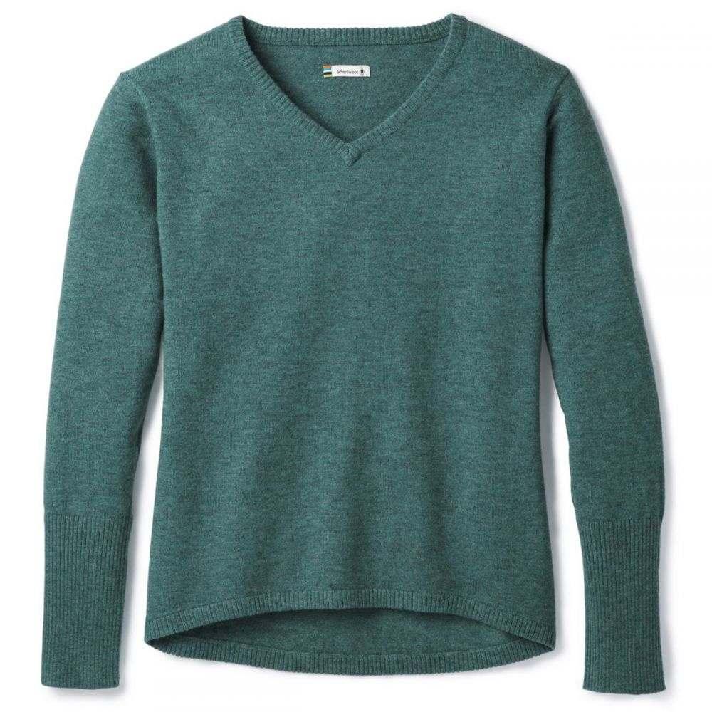 スマートウール Smartwool レディース ニット・セーター Vネック トップス【Shadow Pine V-Neck Sweater】Mediterranean Green Heather