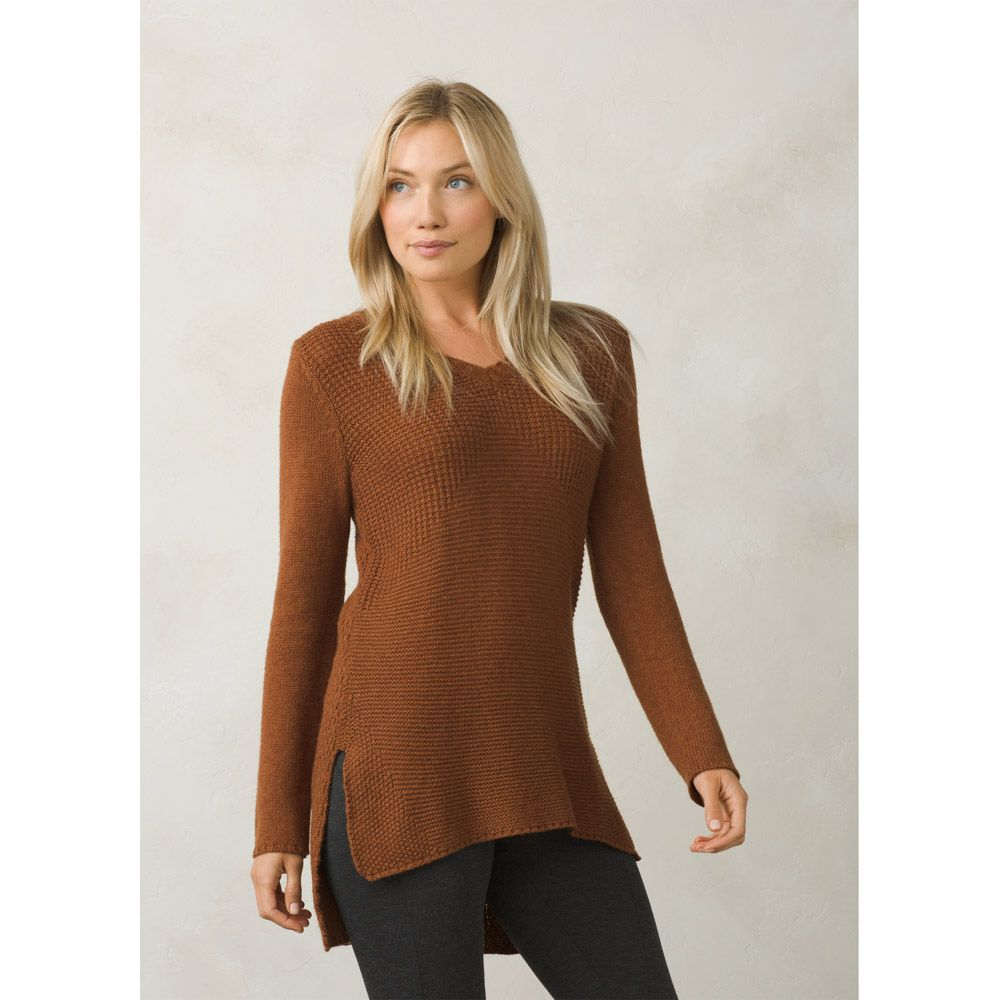 プラーナ Prana レディース チュニック トップス【Deedra Tunic Sweater】Auburn