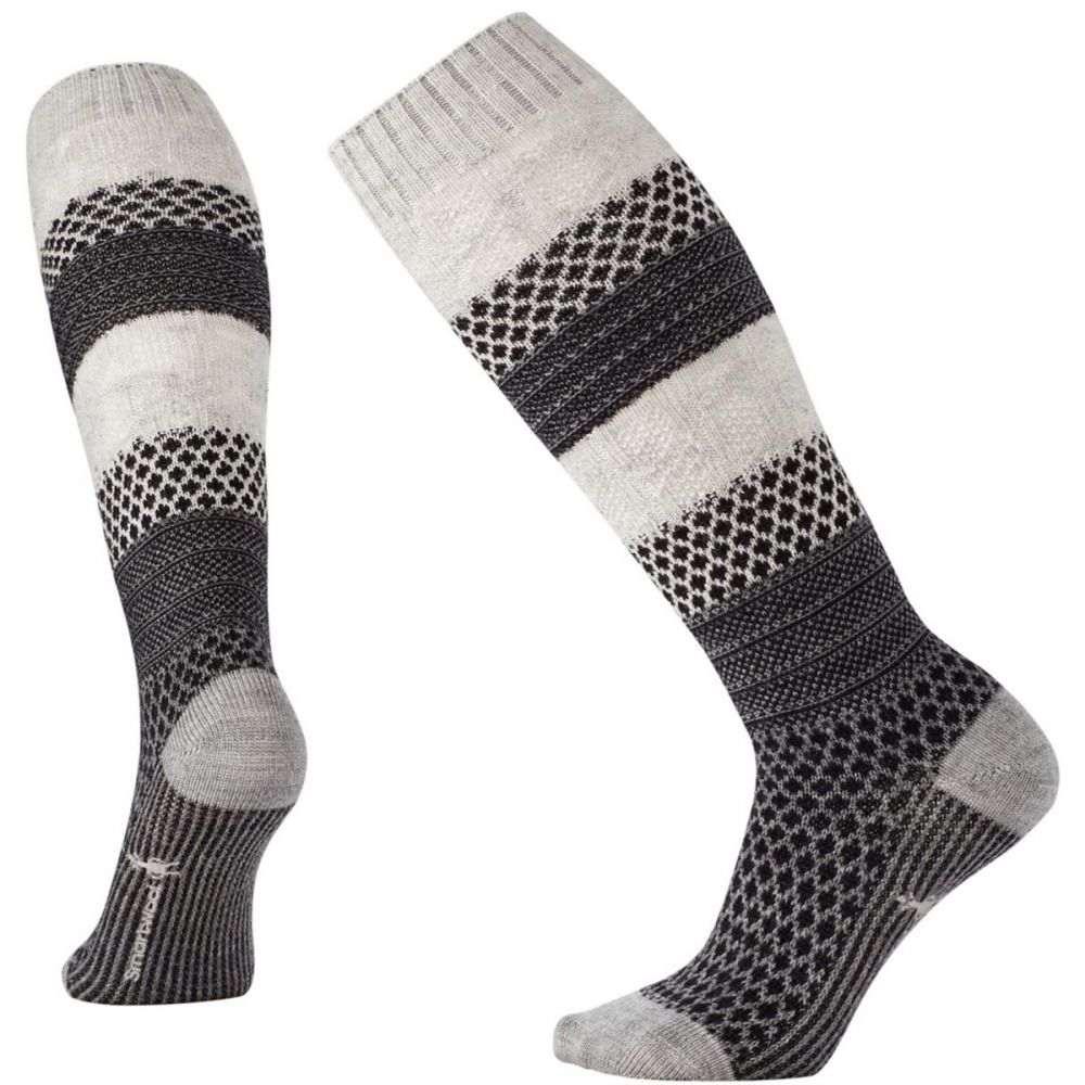 スマートウール Smartwool レディース スキー・スノーボード ソックス【Popcorn Cable Knee-High Socks】Winter White Donegal
