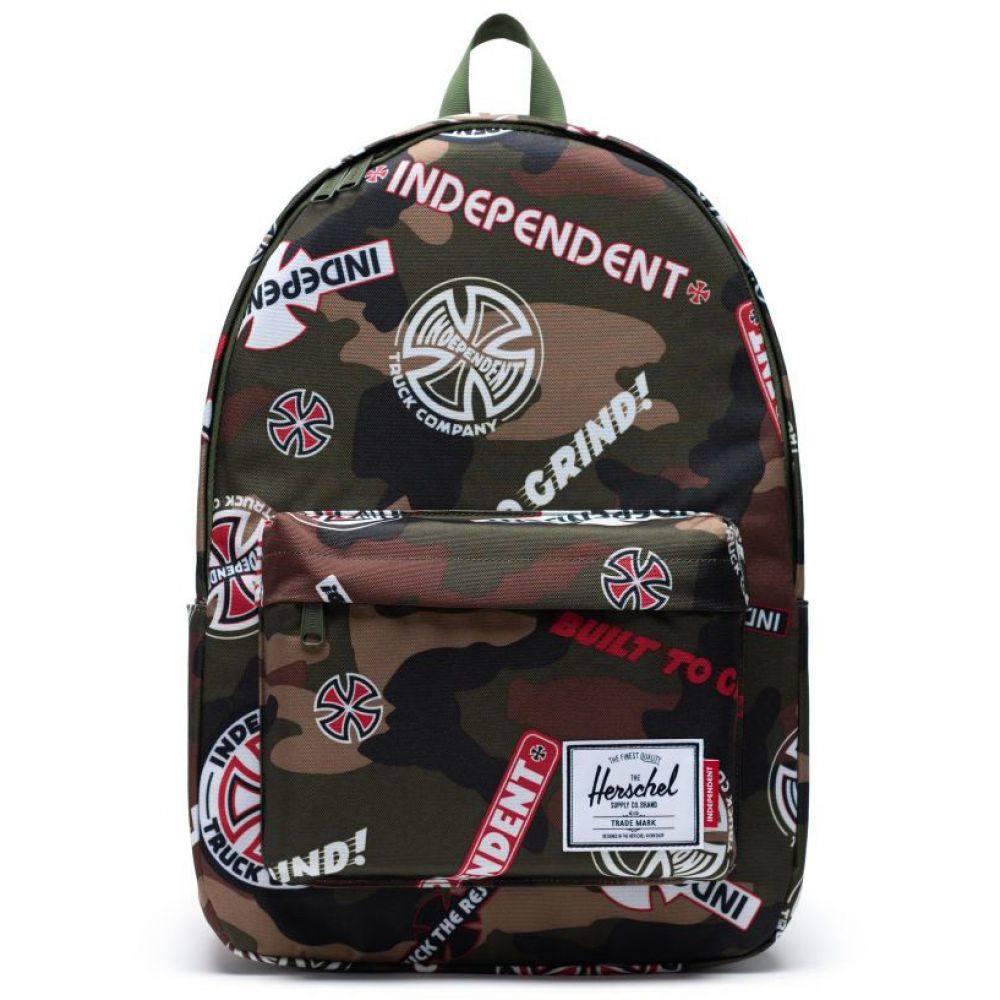 ハーシェル サプライ Herschel メンズ バックパック・リュック バッグ【x Independent Classic X-Large Backpack】Woodland Camo Multi Ind Logo/Cypress