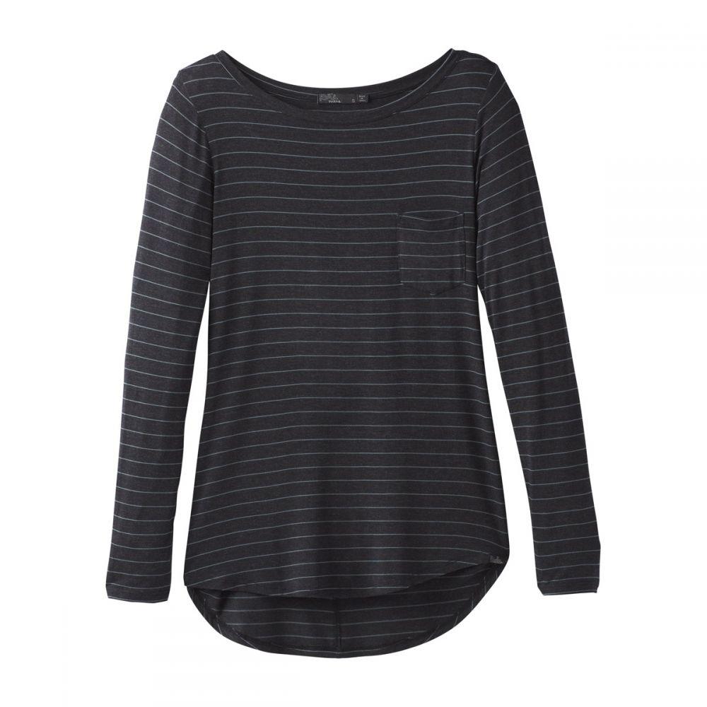 プラーナ Prana レディース チュニック トップス【Foundation L/S Tunic Shirt】Charcoal Heather Stripe