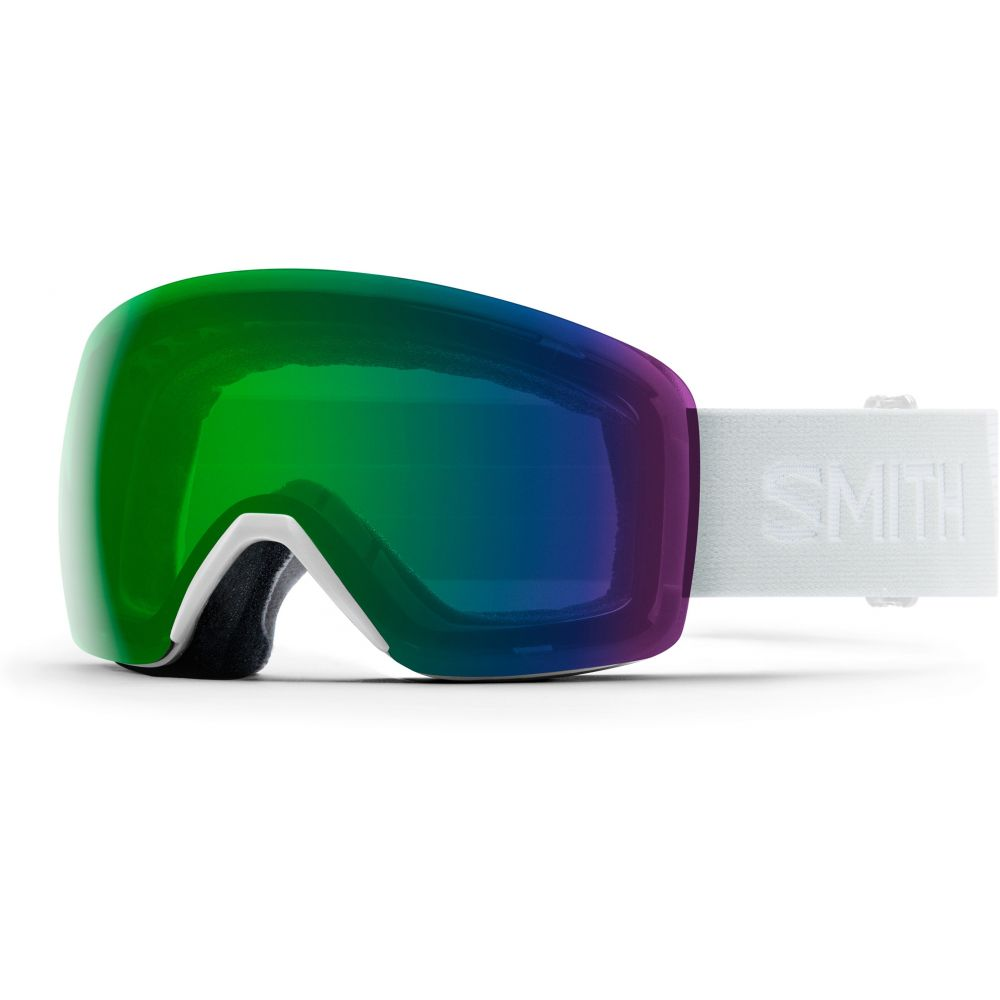 スミス Smith メンズ スキー・スノーボード ゴーグル【Skyline Goggles】White Vapor/Chromapop Everyday Green Mirror Lens