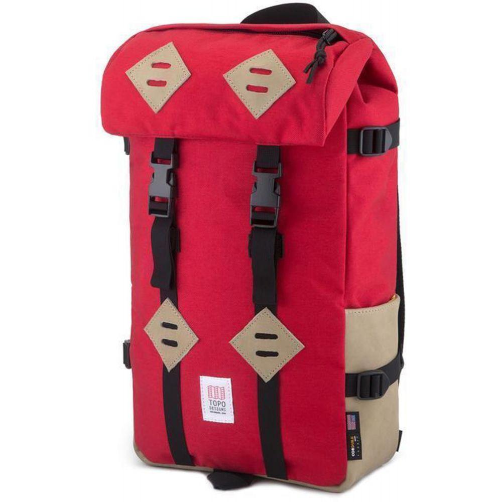 トポ デザイン Topo Designs メンズ バックパック・リュック バッグ【Klettersack Backpack】Red/Khaki Leather