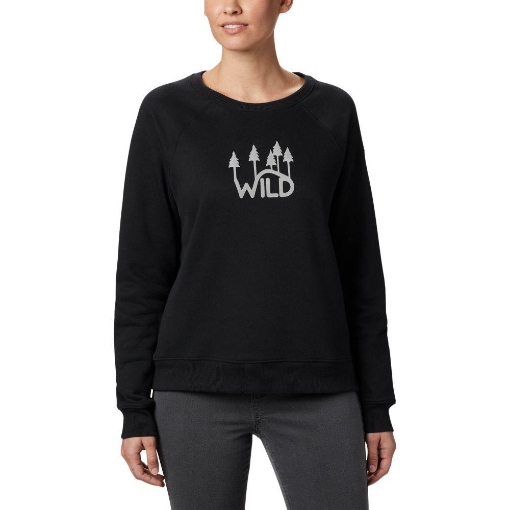 コロンビア Columbia レディース スウェット・トレーナー トップス【Hart Mountain Graphic Crew Sweatshirt】Black