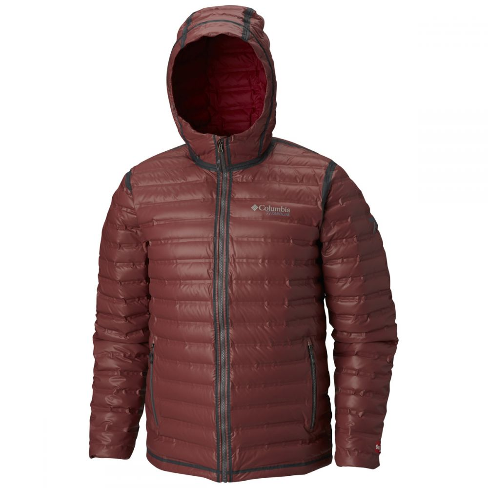コロンビア メンズ アウター レインコート Red Element 【サイズ交換無料】 コロンビア Columbia メンズ レインコート フード アウター【OutDry Ex Gold Down Hooded Rain Jacket】Red Element