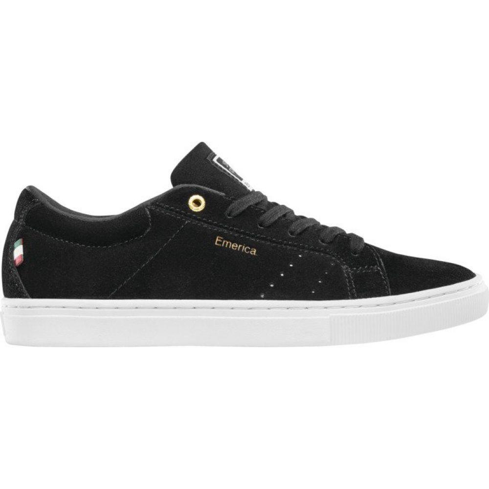 エメリカ Emerica メンズ スケートボード シューズ・靴【Romero Americana Skate Shoes】Black/White/Gold