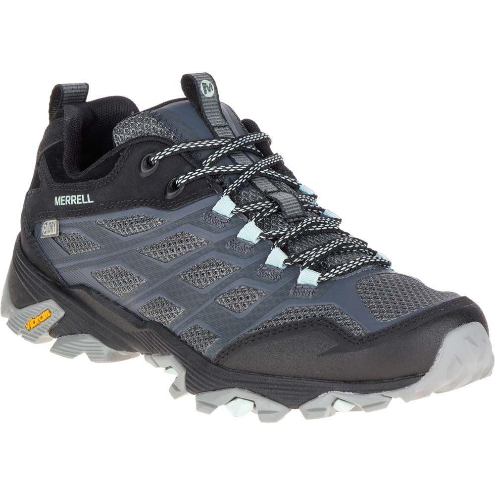 メレル Merrell レディース ハイキング・登山 シューズ・靴【Moab FST Waterproof Hiking Shoes】Granite