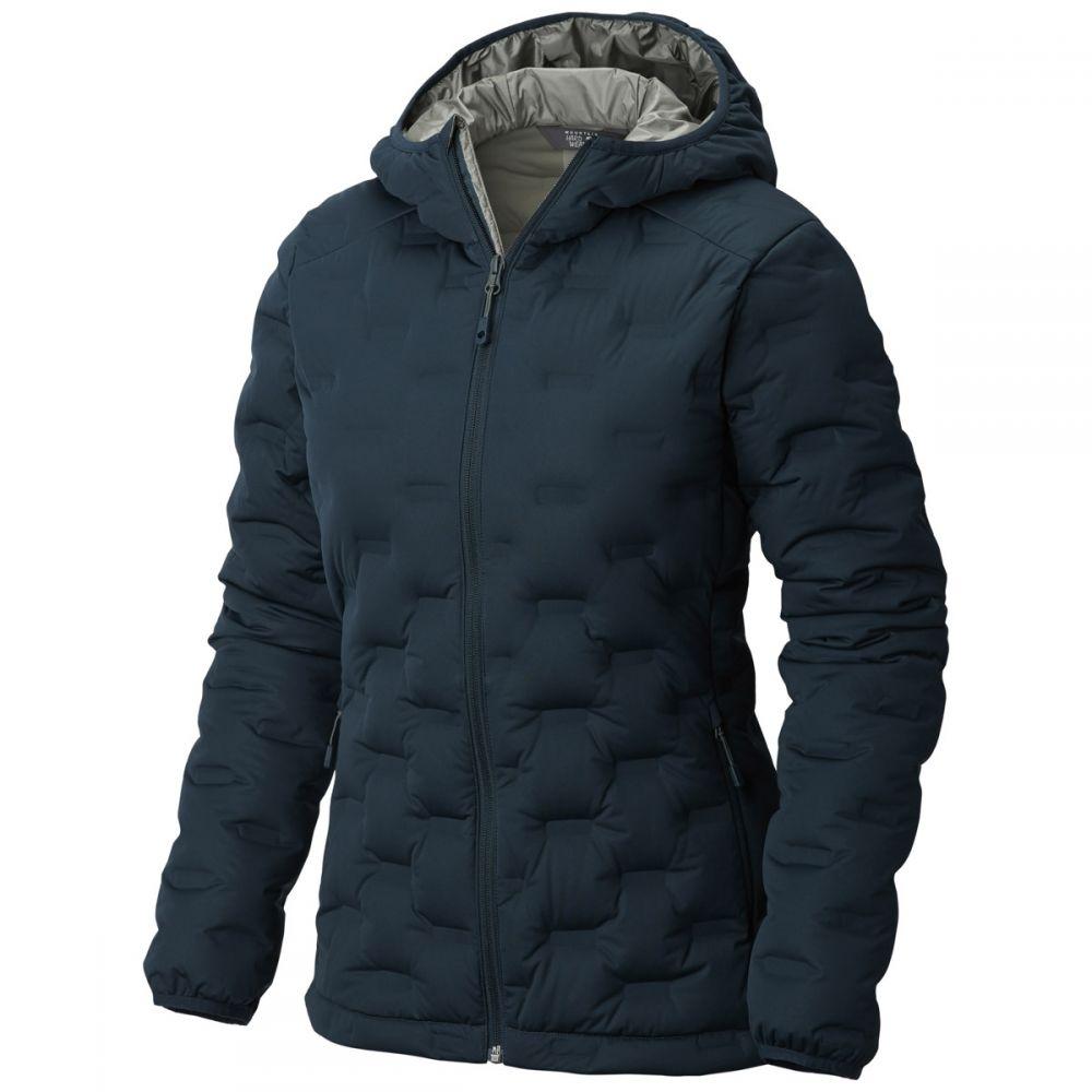 マウンテンハードウェア Mountain Hardwear レディース ダウン・中綿ジャケット フード アウター【StretchDown DS Hooded Jacket】Blue Spruce