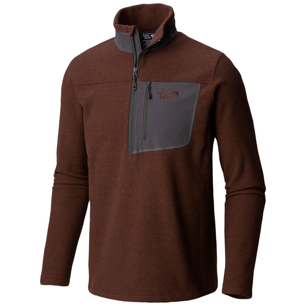 マウンテンハードウェア Mountain Hardwear メンズ フリース トップス【Toasty Twill Half Zip Fleece】Woodsmoke