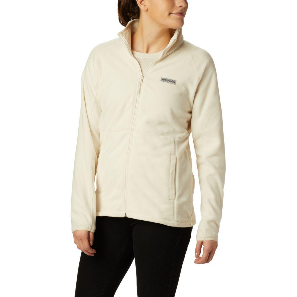 コロンビア Columbia レディース フリース トップス【Basin Trail Full-Zip Fleece】Chalk
