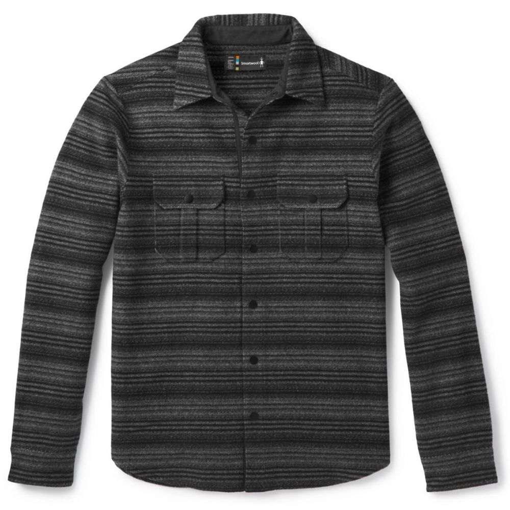 スマートウール Smartwool メンズ ジャケット シャツジャケット アウター【Anchor Line Stripe Shirt Jacket】Medium Grey/Black