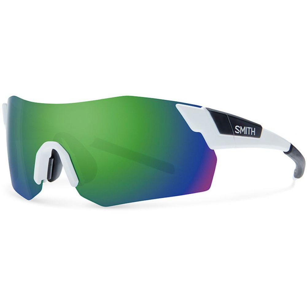 スミス Smith メンズ メガネ・サングラス 【PivLock Arena Max Sunglasses】Matte White/Chromapop Sun Green Mirror Lens