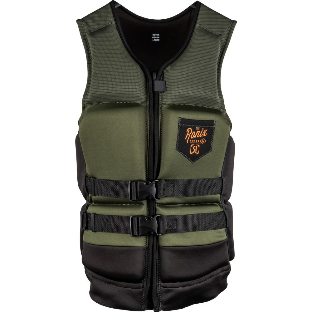 ロニックス Ronix メンズ トップス【Forester Capella 3.0 CGA Wake Vest】Olive/Orange