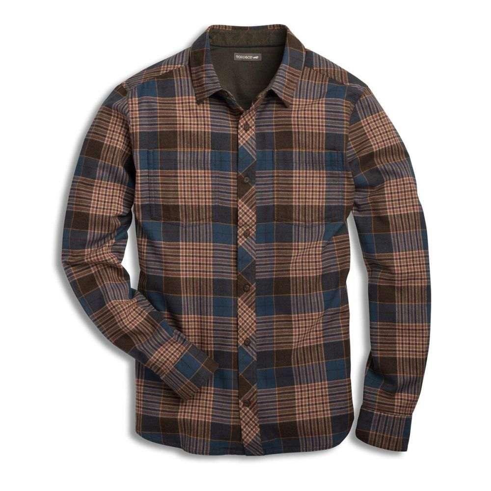 トードアンドコー Toad & Co メンズ シャツ トップス【Flannagan L/S Shirt】Blue Wing Teal