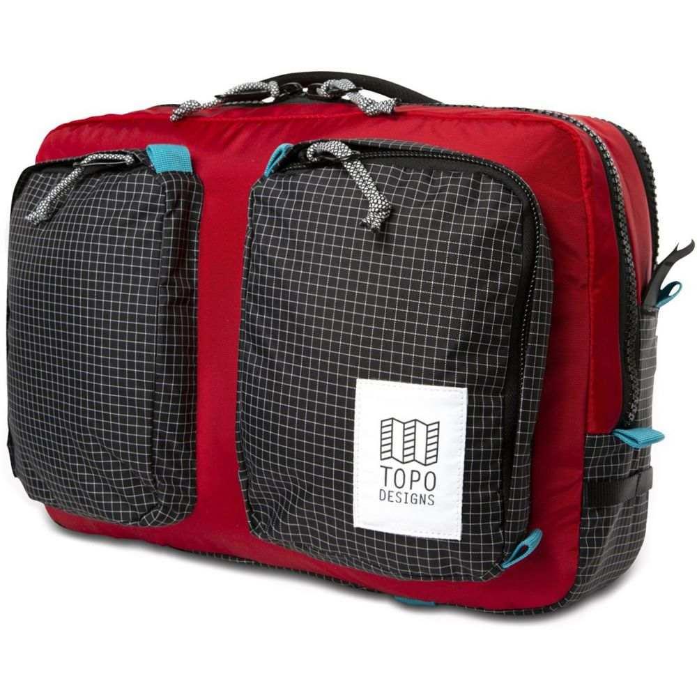 トポ デザイン Topo Designs メンズ ビジネスバッグ・ブリーフケース バッグ【Global Briefcase Bag】Red/Black Ripstop