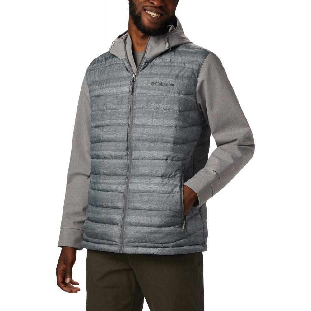 コロンビア Columbia メンズ ジャケット アウター【Powder Lite Hybrid Jacket】City Grey Heather Stripe Print/City Grey Heather