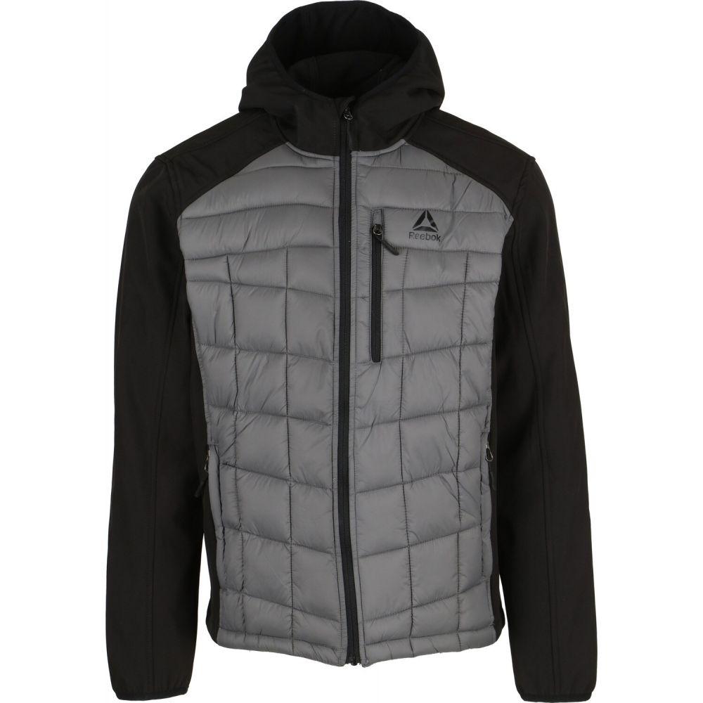 リーボック Reebok メンズ ジャケット ソフトシェルジャケット アウター【Softshell Quilted Jacket】Black/Medium Grey