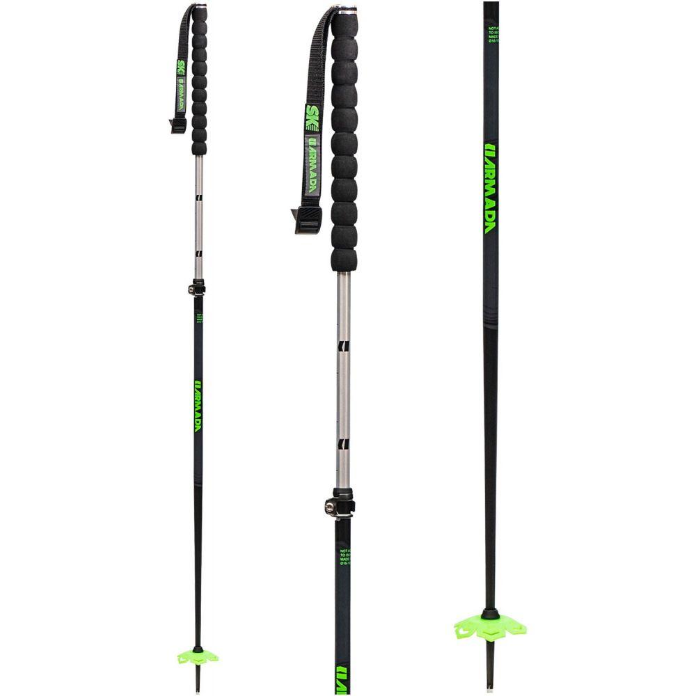 アルマダ Armada メンズ スキー・スノーボード ポール【Alloy Adjustable Ski Poles】黒