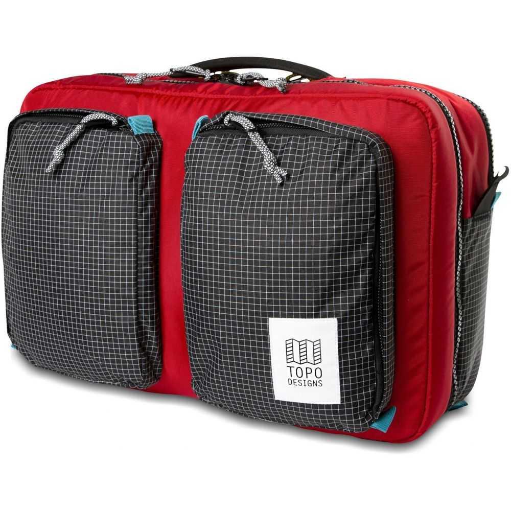 トポ デザイン Topo Designs メンズ ビジネスバッグ・ブリーフケース バッグ【Global Briefcase 3-Day Bag】Red/Black Ripstop