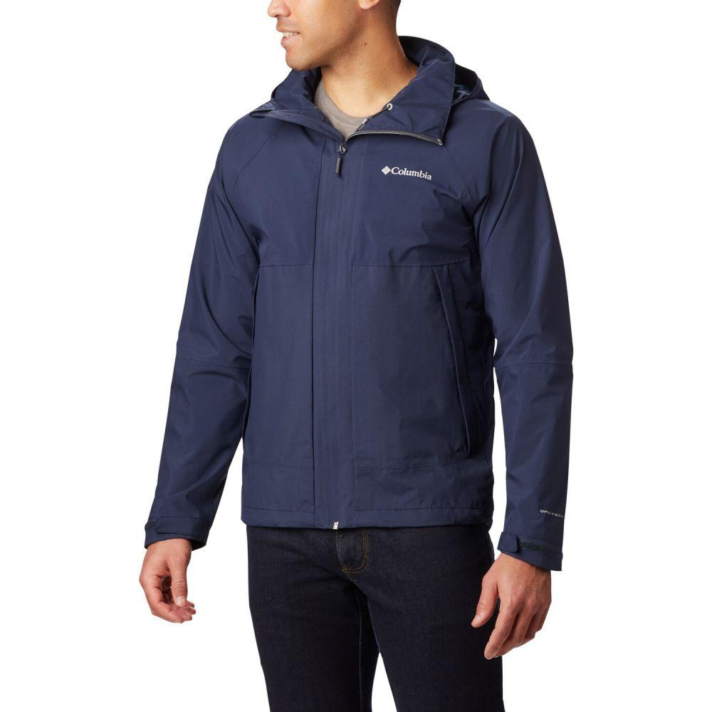 コロンビア Columbia メンズ レインコート アウター【Evolution Valley Rain Jacket】Collegiate Navy