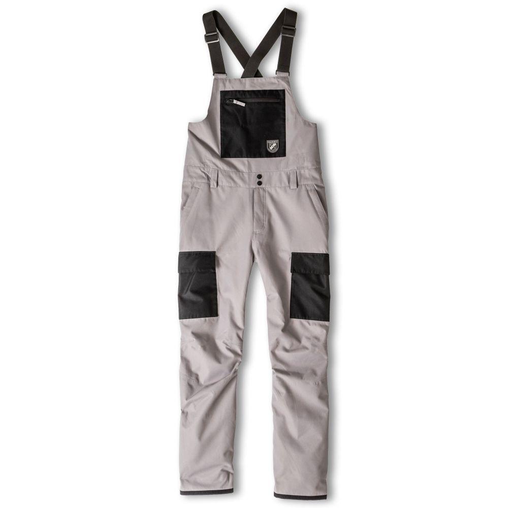 シャモニー Chamonix メンズ スキー・スノーボード ビブパンツ カーゴ ボトムス・パンツ【Cheval Cargo Bib Snowboard Pants 2020】Grey/Black