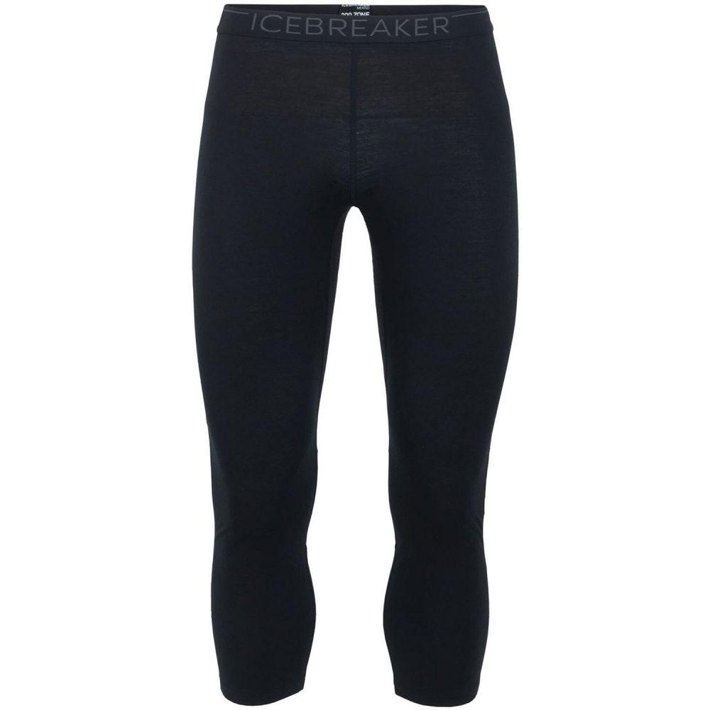 アイスブレーカー Icebreaker メンズ スキー・スノーボード ベースレイヤー ボトムス・パンツ【200 Zone Legless Baselayer Pants】Black/Mineral