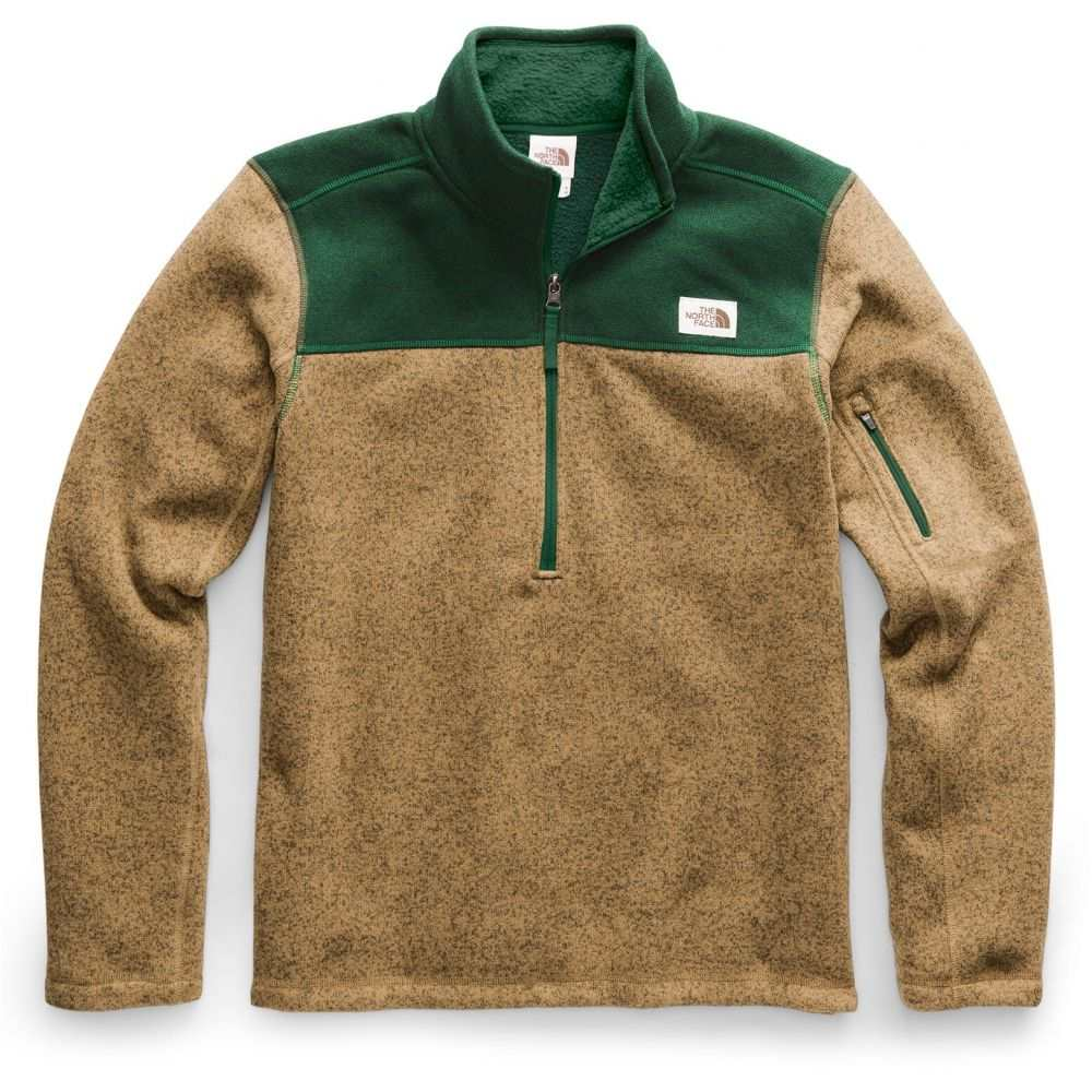 ザ ノースフェイス The North Face メンズ スキー・スノーボード トップス【Gordon Lyons 1/4 Zip Fleece】British Khaki Heather/Night Green Heather