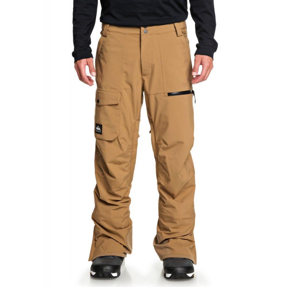クイックシルバー メンズ スキー・スノーボード ボトムス・パンツ Otter 【サイズ交換無料】 クイックシルバー Quiksilver メンズ スキー・スノーボード ボトムス・パンツ【Utility Snowboard Pants 2020】Otter