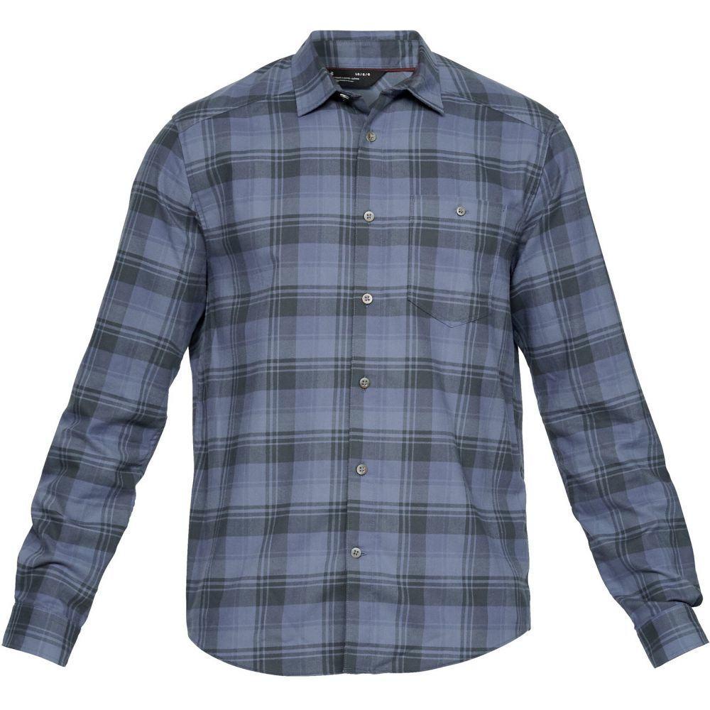 アンダーアーマー Under Armour メンズ シャツ トップス【UA Tradesman Flannel】Utility Blue/Utility Blue