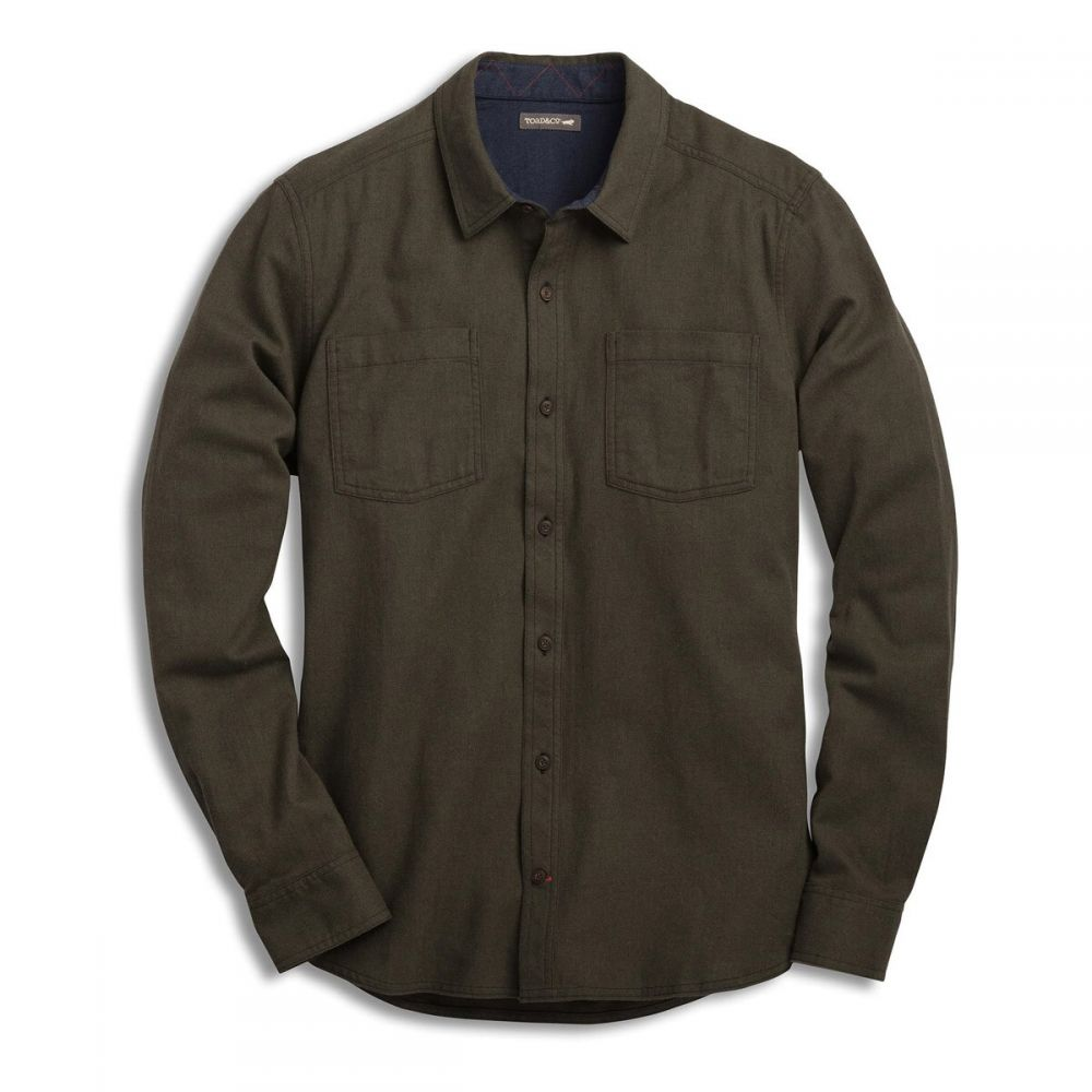 トードアンドコー Toad & Co メンズ シャツ トップス【Flannagan Solid L/S Shirt】Rustic Olive Heather