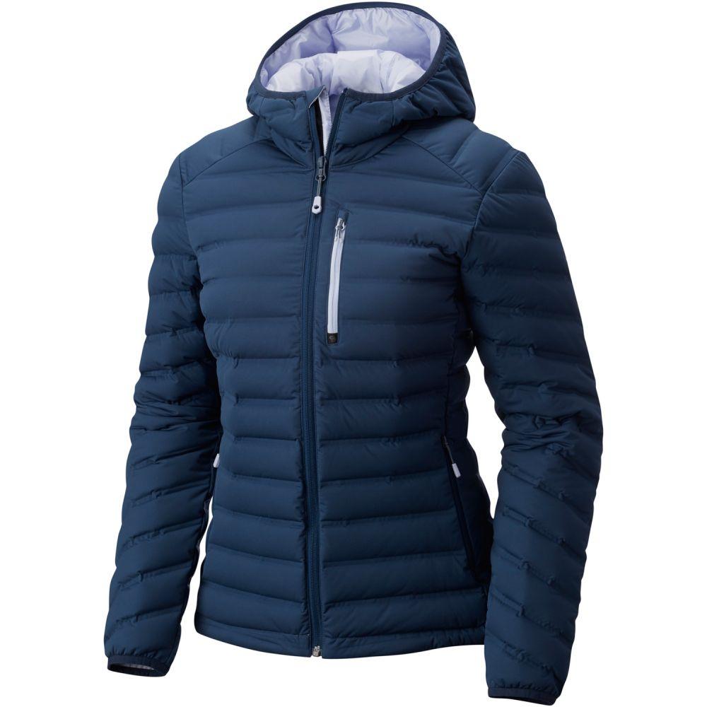 マウンテンハードウェア Mountain Hardwear レディース ダウン・中綿ジャケット フード アウター【StretchDown Hooded Jacket】Zinc