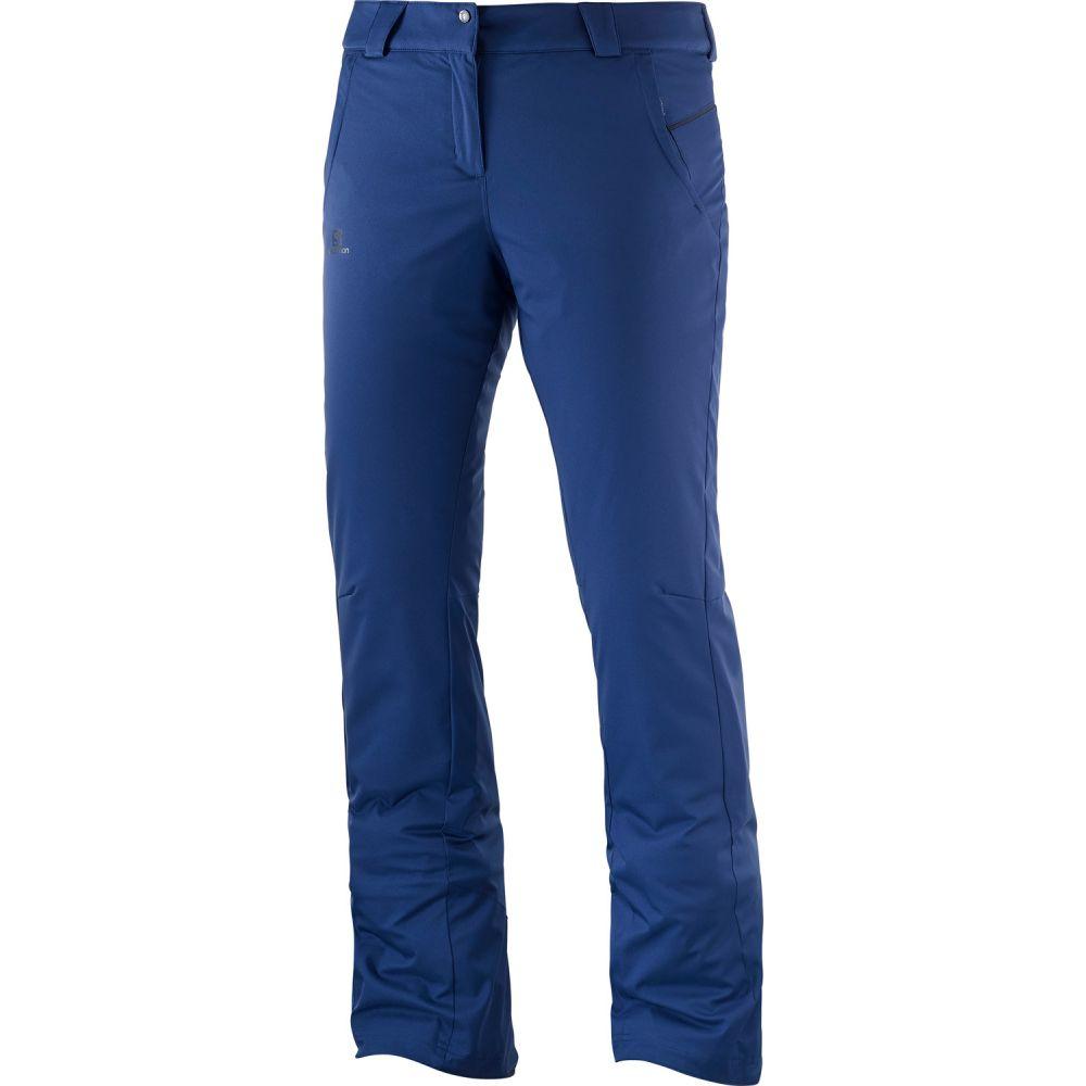 サロモン Salomon レディース スキー・スノーボード ボトムス・パンツ【Stormseason Ski Pants】Medieval Blue