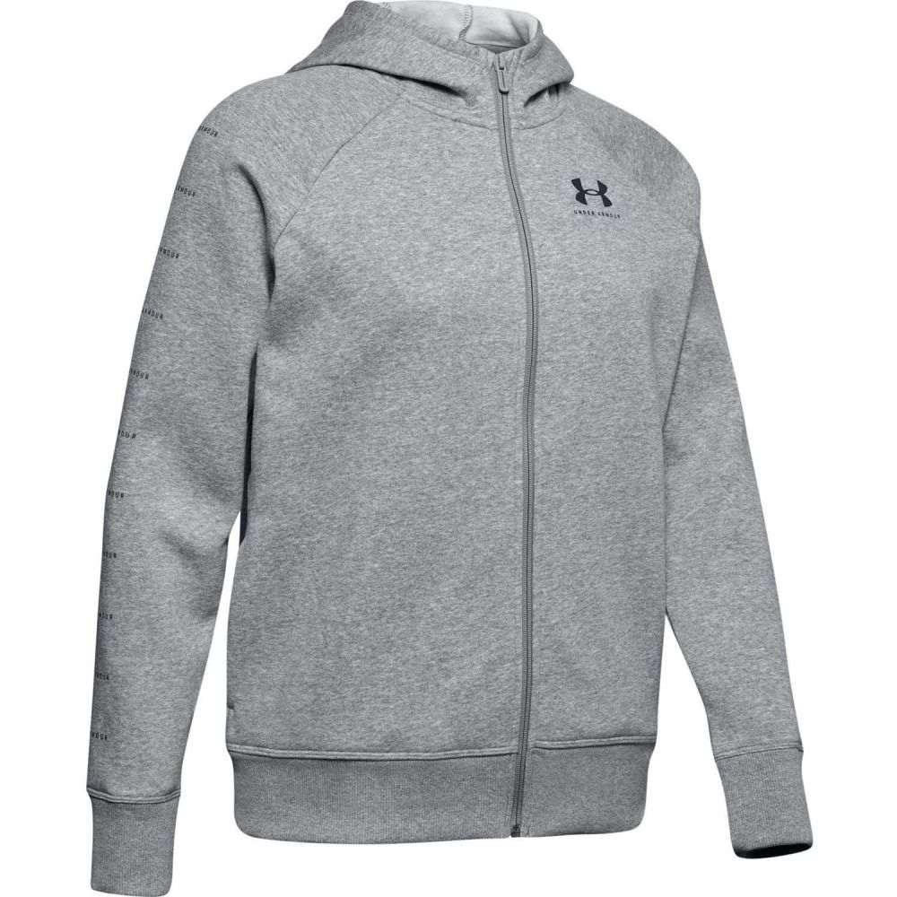 アンダーアーマー Under Armour レディース パーカー トップス【Rival Sportstyle LC Sleeve Graphic Hoodie】Steel Medium Heather