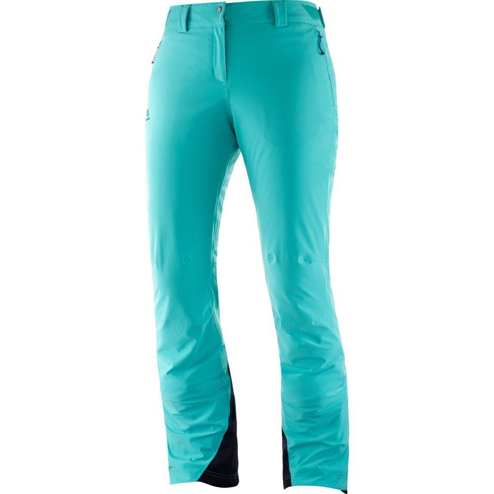 サロモン Salomon レディース スキー・スノーボード ボトムス・パンツ【IceMania Ski Pants】Blue Turquoise
