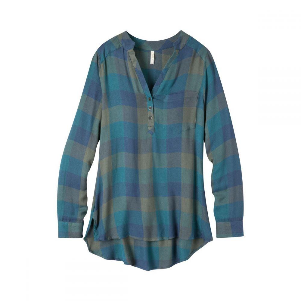 マウンテンカーキス Mountain Khakis レディース チュニック トップス【Josie Tunic L/S Shirt】Blue Steel Plaid