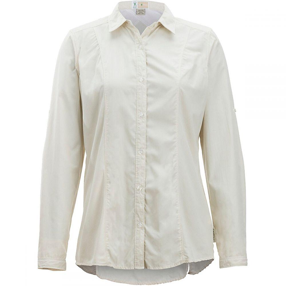 エクスオフィシオ ExOfficio レディース ブラウス・シャツ トップス【Exofficio BugsAway Zeta Stripe L/S Shirt】Light Khaki