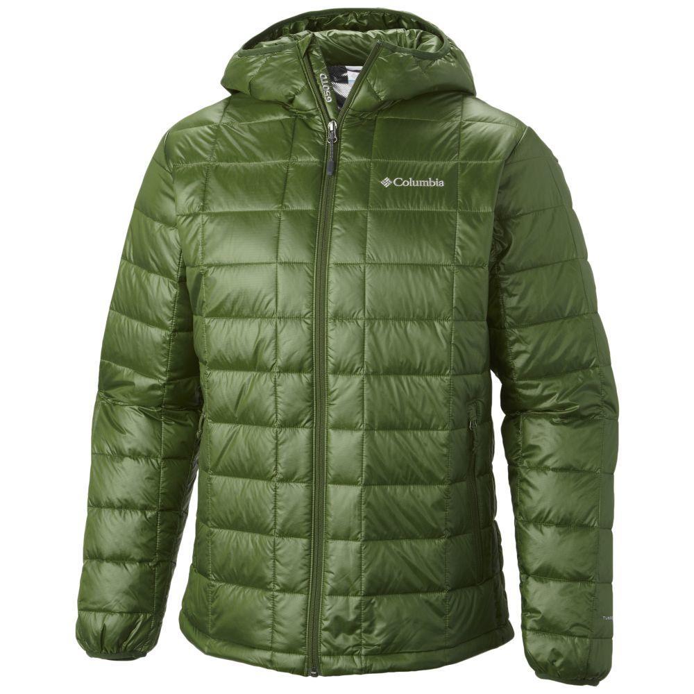 コロンビア Columbia メンズ ダウン・中綿ジャケット フード マウンテンジャケット アウター【Trask Mountain 650 Turbodown Hooded Jacket】Woodland