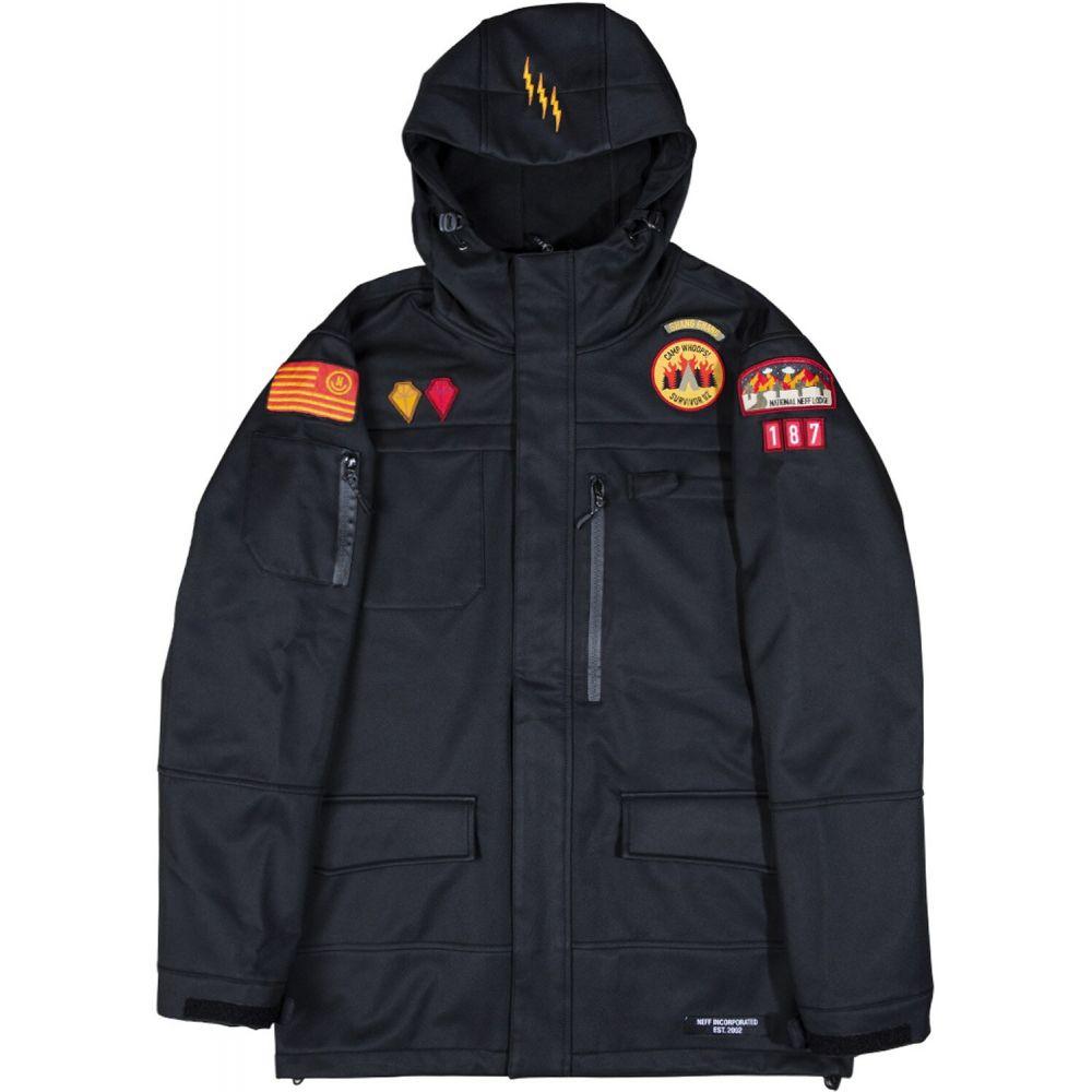 ネフ Neff メンズ スキー・スノーボード ソフトシェルジャケット アウター【On My Honor Softshell Snowboard Jacket】Black