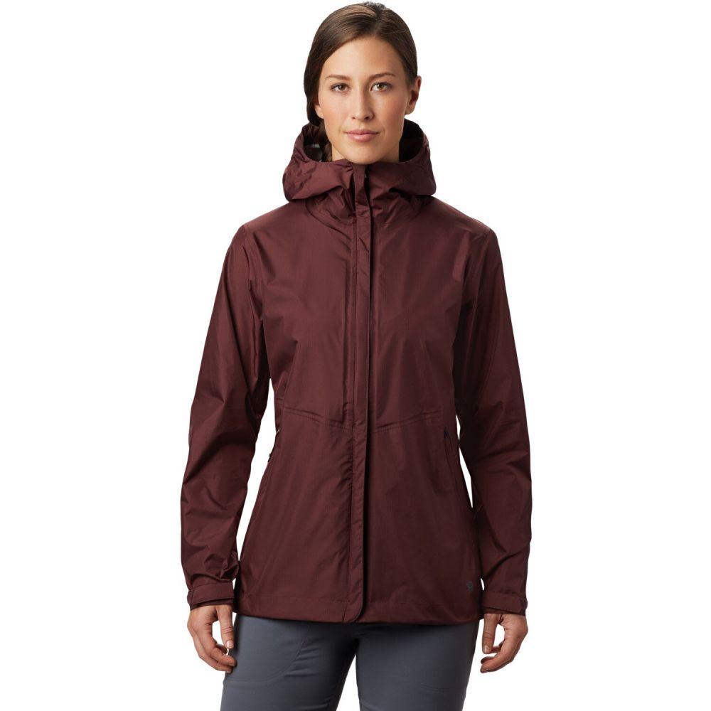 マウンテンハードウェア Mountain Hardwear レディース レインコート アウター【Acadia Rain Jacket】Washed Raisin