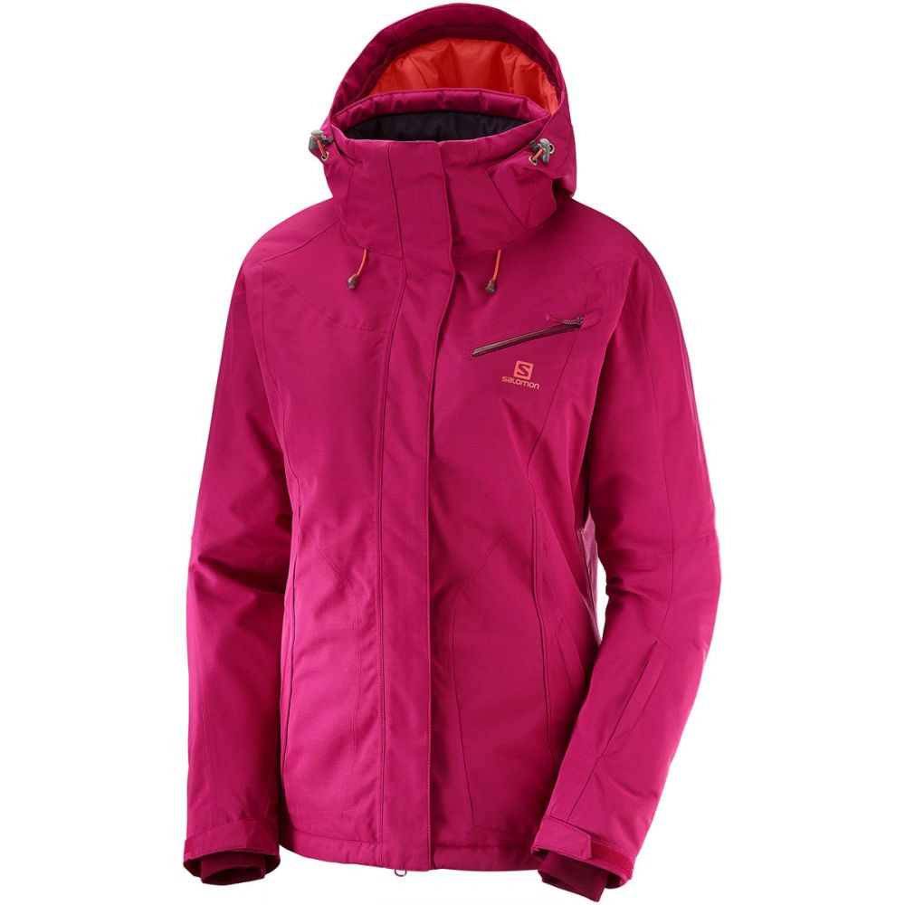 サロモン Salomon レディース スキー・スノーボード ジャケット アウター【Fantasy Ski Jacket】Cerise Heather