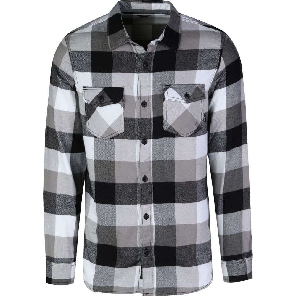 ヴァンズ Vans メンズ シャツ トップス【Box Flannel】Black/Frost Grey