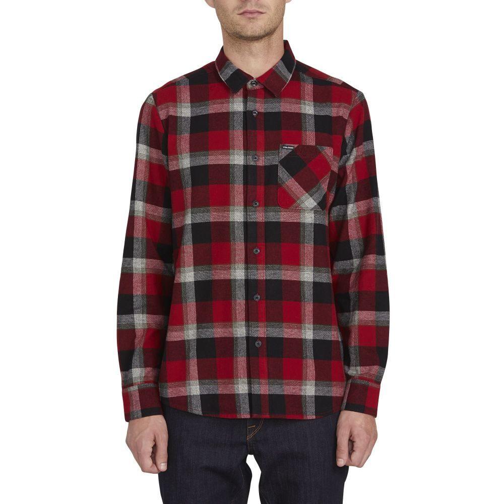 ボルコム Volcom メンズ シャツ トップス【Caden Plaid L/S Flannel】Deep Red