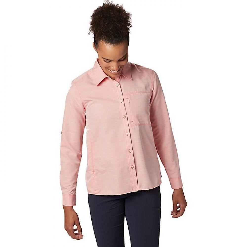 マウンテンハードウェア Mountain Hardwear レディース トップス 【Canyon L/S Shirt】Solstice Red