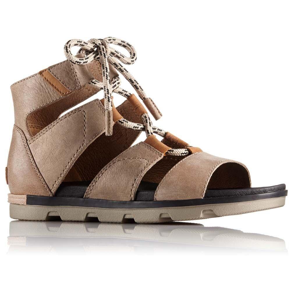 ソレル Sorel レディース サンダル・ミュール シューズ・靴【Torpeda Lace II Sandals】Sahara/Black