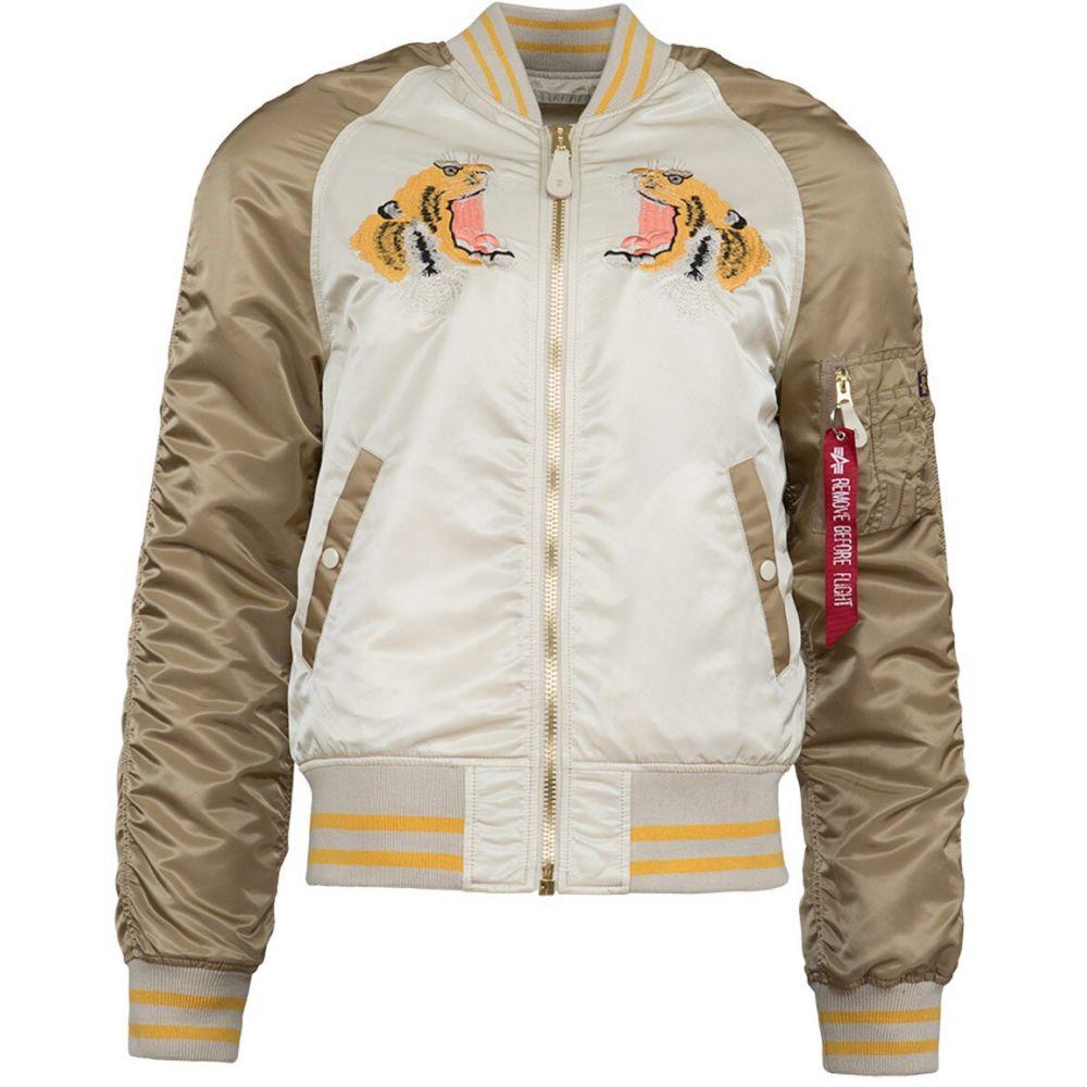 アルファ インダストリーズ Alpha Industries メンズ ブルゾン フライトジャケット アウター【L-2B Tiger Souvenir Flight Jacket】Vintage White/Sand/Mauve
