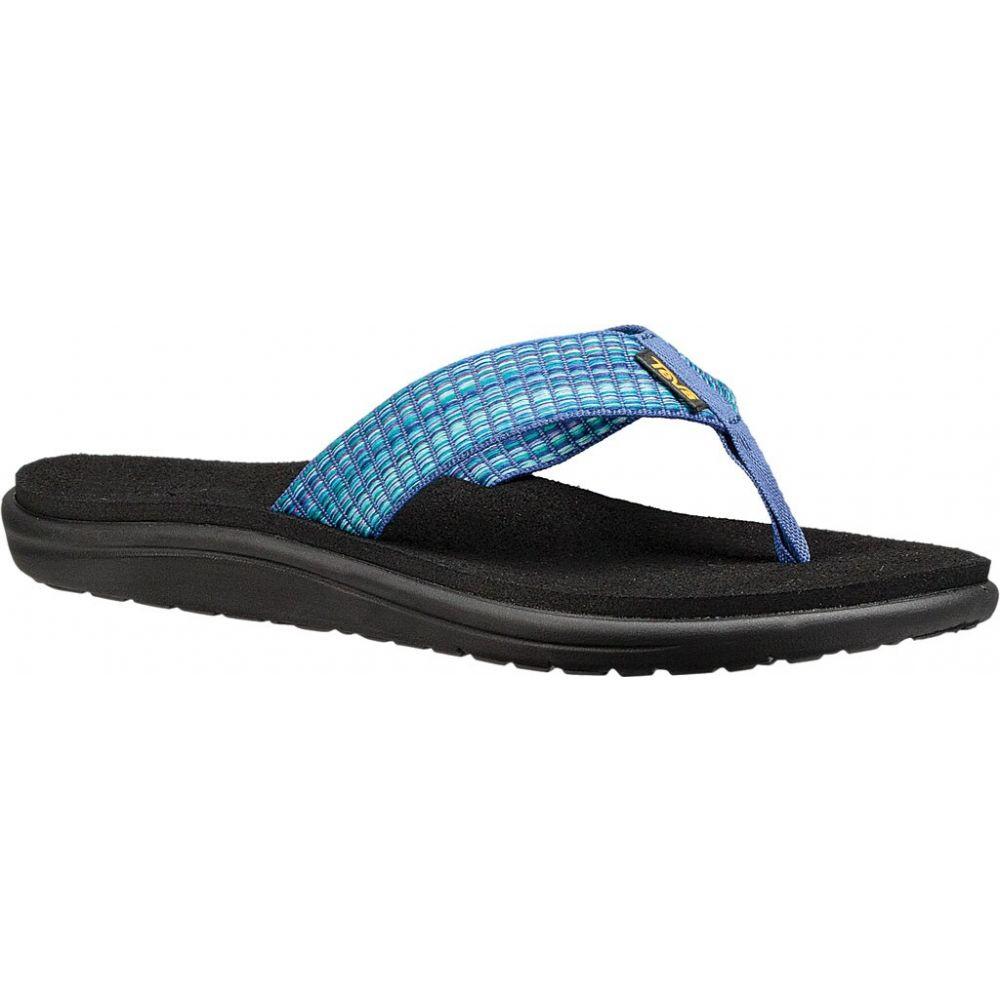 テバ Teva レディース ビーチサンダル シューズ・靴【Voya Flip Sandals】Bar Street Multi Blue