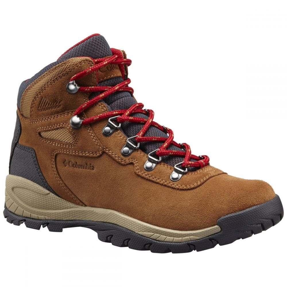 コロンビア Columbia レディース ハイキング・登山 ブーツ シューズ・靴【Newton Ridge Plus II Waterproof Wide Hiking Boots】Elk Mountain Red