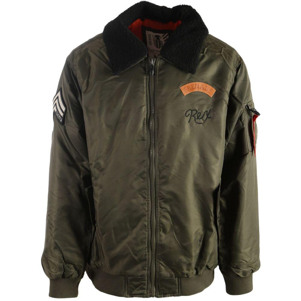 グレネード Grenade メンズ スキー・スノーボード ジャケット アウター【Flight w/ Sherpa Collar Snowboard Jacket】Olive
